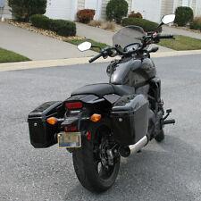 Black Hard Saddle Bags Trunk Luggage Motorcycle Cruiser for Harley Honda Yamaha