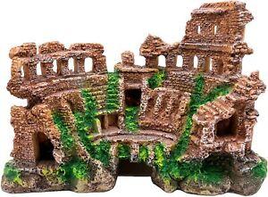 M2cbridge Antique Roman Column Ruins European Castle Aquarium Decorations Fish T