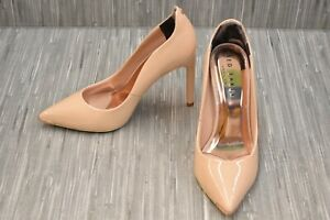 Ted Baker London Kaawin Patent Leather Pumps, Women's Size 5.5, Nude