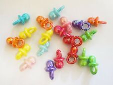 20 Plastic/ Acrylic Shiny Dummy Charms/Pendants - Assorted Mix - 21mm
