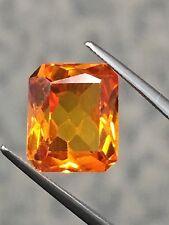 11x9mm Radiant SYN Corundum Citrine-like Vivid Yellow Orange Loose Stone Gem