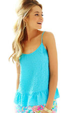 NWT LILLY PULITZER SzL CORAL SPAGHETTI STRAP TANK TOP POOL HOUSE  $88.