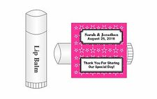 20 Personalized Lip Balm Stars Glossy Wedding Favor Labels Stickers