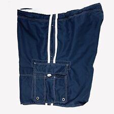 Beverly Hills Polo Club Men's Size 3X Swim Shorts Drawstring Cargo Pockets Blue