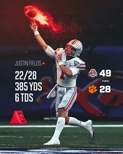 Justin Fields Ohio State Buckeyes 2021 Sugar Bowl victory Photo -select size