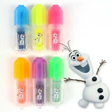 6x MINI SCENTED HIGHLIGHTER PENS Safe Non Toxic Fruit Smelly Kids Novelty