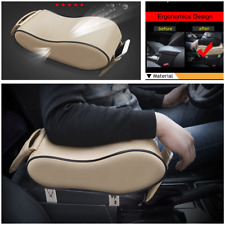 Beige Dust-proof Leather Car Armrest Pad Cover Auto Center Console Cushion Mat