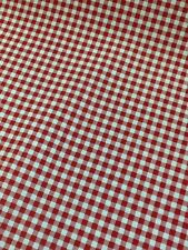 Gingham Check Red Curtain Fabric By The Metre