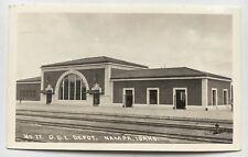 ID Real Photo Postcard RPPC Nampa, Idaho Railroad RR Train Station O.S.L. Depot