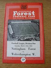 25/03/1961 Nottingham Forest v Wolverhampton Wanderers  (Crease, Fold, Small Num