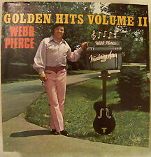 LP - WEBB PIERCE - GOLDEN HITS Vol. II -  - Rare - Hard To Find 1976 ORIG