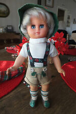 """Beautiful German Girl Celluloid/Plastic Doll, 10 1/4"""" Tall, Moving eyes!"""