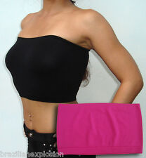 Seamless Strapless Bandeau DEEP PINK Tube Top Bra No Pads FREE SHIPPING to USA