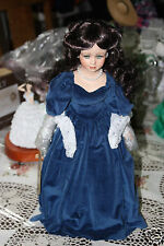 "Seymour Mann Southern Belle Scarlett O'Hara 19"" Porcelain Doll Blue Portrait"