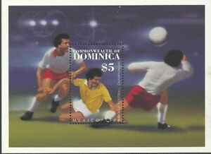 Dominica 1986 - Sports World Cup Soccer Championships Mexico S/S - Sc 939 MNH