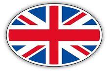 2x OVAL UNION JACK car stickers 90x50mm UK GB