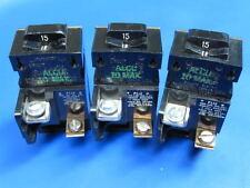 Lot 3 - 15 Amp PUSHMATIC ITE BULLDOG 1 Pole BREAKERS P115