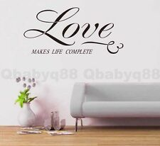 Love life Wall Quotes decal Removable stickers decor Vinyl DIY home art mural