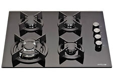Millar Gh6041Xeb 4 Burner Built-in 60cm Black Gas on Glass Hob