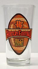 """Beer Pint Glass HOOTERS FOOTBALL """" WAY TO WATCH THE GAME BEST SEAT IN HOUSE """""""