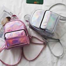 Womens Girls PU Leather Shoulder School Travel Bag Mini Backpack Rucksack Cute