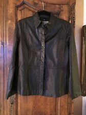 Apostrophe 100% Genuine Leather Jacket Size 12 Black