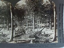 "WW1 A BATTERY OF ""270"" MM. MORTARS (HOWITZER) MT. ST. ELOI!  KEYSTONE STEREOVIEW"