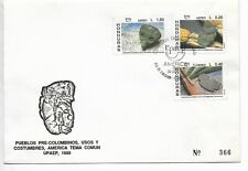 HONDURAS 1989 PRE COLOMBIAN PEOPLES, ARCHEOLOGY AMERICA UPAEP FIRST DAY COVER