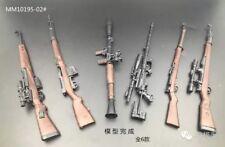 6PCS 1/6 BattleField Sniper Battle Rifle GUN WWII KAR-98K SVT-40 G43 RPG M200