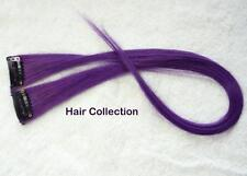 "18""Purple Human Hair Clip In Extensions for Highlight (2pcs)"