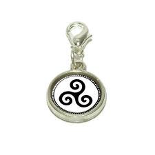 Triskele Spiral Symbol Dangling Bracelet Pendant Charm