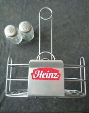 Heinz Restaurant Style Wire Basket Condiment Caddy, With Salt & Pepper Shakers