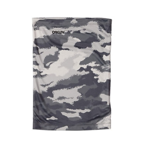 New Oakley Hydrolix Neck Gaiter Face Cover Mask Shield Painted Grey Camo L/XL