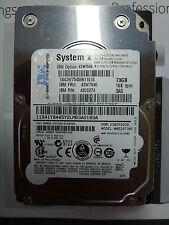 """2x IBM Système X SAS Serveur 2,5 """" 73 GB 15k MBE2073RC ST973452SS 43W7545 HDD"""