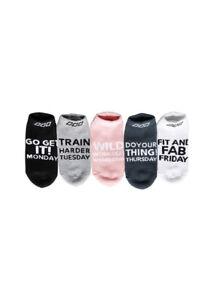 2021 Lorna Jane Inspiring Days Sock Kit 5 Pack Days Of The Week Running Socks