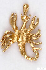 Scorpio Scorpion Zodiac Charm Pendant 24k Yellow Gold Plated Astrological Sign