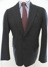 Paul Stuart Blazer Gray Striped Mens Wool Two Button Canada Custom Vented Lined*