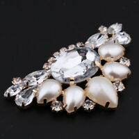 Rhinestone Shoe Clips Crystal Women Wedding Shoe Buckle Charms Decor Champagne