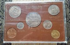 THE  GAMBIA  7  COIN  PROOF  SET 1966  +  1970  8  SHILLING  PIECE