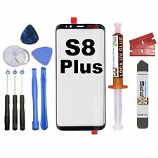 Samsung Galaxy S8 Plus OEM G950 Black Glass Lens Screen Replacement Loca UV Glue