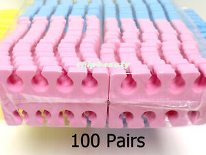100 Pairs (200 Pcs) Soft Sponge Foam Finger Toe Separator Pedi-Mani Disposable