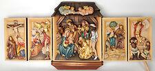 Krippe Krippen-Bild, Flügelaltar, holz.geschnitztes Gemälde Relief