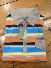 Sonneti Striped Jersey Polo Shirt/Zorg - Medium