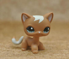 Littlest Pet shop Short Hair Cat kitty Mocha Caramel Brown Swirl European #1170