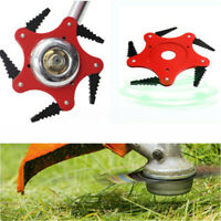 Lawn Mower Trimmer Head 5 Blade Saw Tooth Steel Brush Cutter Grass Weed Eater