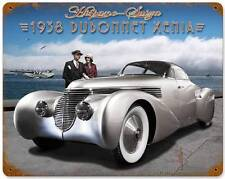 Hot Rod 1938 Hispano-Suiza Dubonnet Xenia Metal Sign Man Cave Body Shop LG026