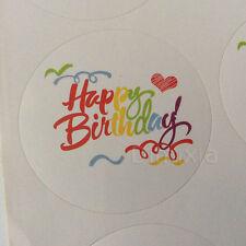 40X HAPPY BIRTHDAY PARTY GIFT SEAL DECOR INVITATION CARD FAVOUR LABEL STICKER