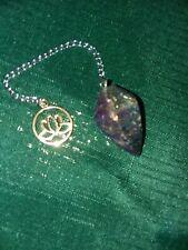 Titanium Coated Pendulum with Lotus Blossom