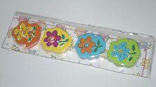 Eraser, Gomas de Borrar, Flores Colores x4, Regalo, Goma, NUEVO / NEW