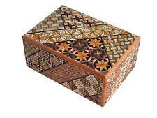 Hakone yosegi Truco Caja 7 pasos tradicional japonés secreto de Madera Caja Puzzle